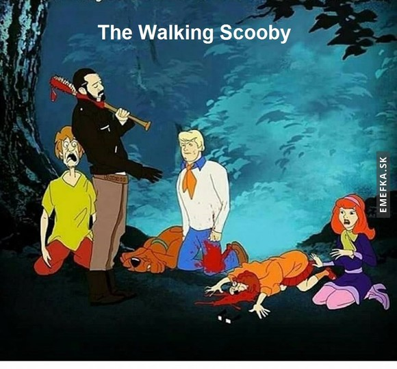 Walking Scooby