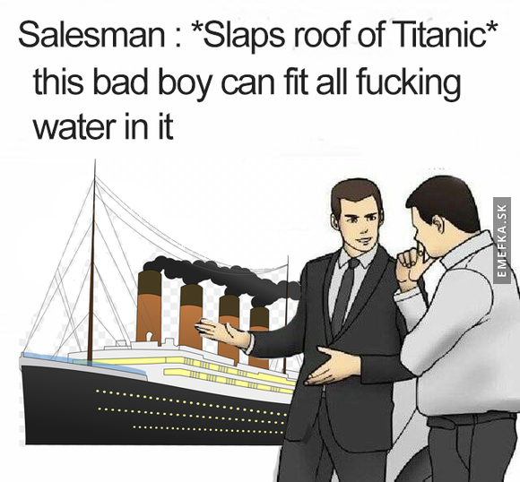 Car salesman Titanic