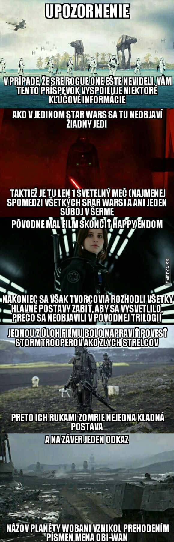 Star Wars fakty no.9 Rogue one
