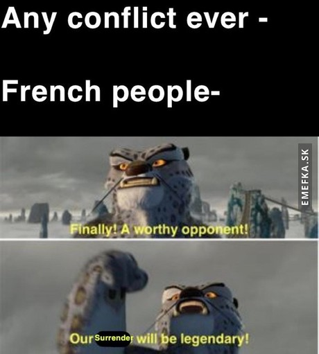 Classical french in war meme