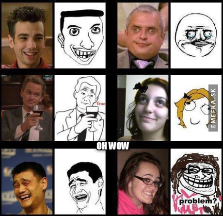 Meme face in real life !